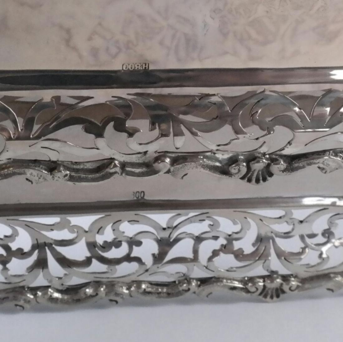 2 .800 Standard Silver Rectangular Trays - 2