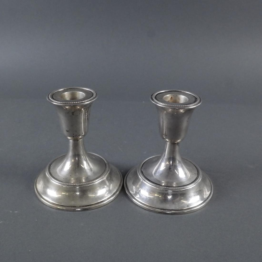 Pair .800 Standard Silver Candlesticks