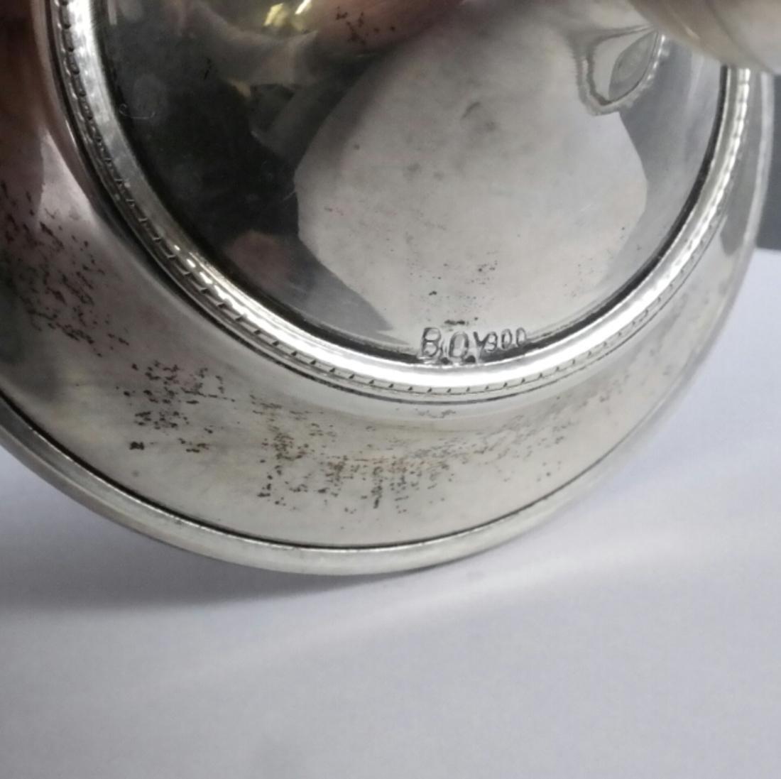 Pair .800 Standard Silver Candlesticks - 2
