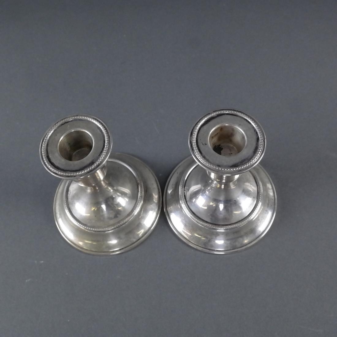 Pair .800 Standard Silver Candlesticks - 3