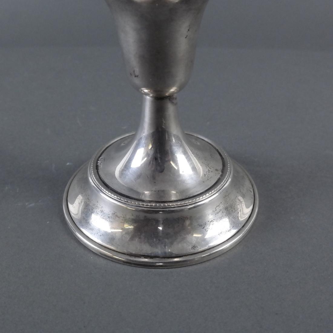 Pair .800 Standard Silver Candlesticks - 5