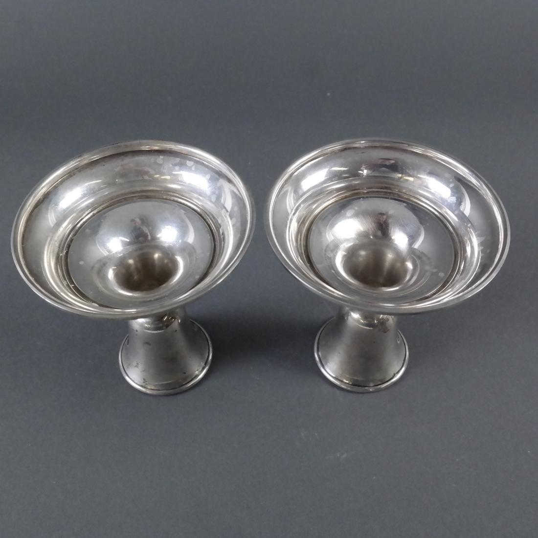 Pair .800 Standard Silver Candlesticks - 6