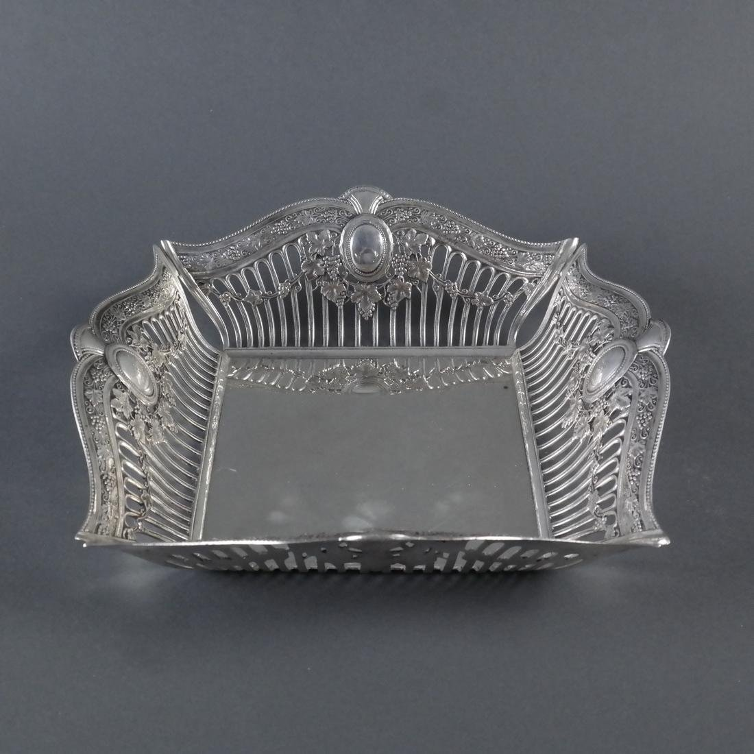 .900 Standard Silver Reticulated Basket - 2