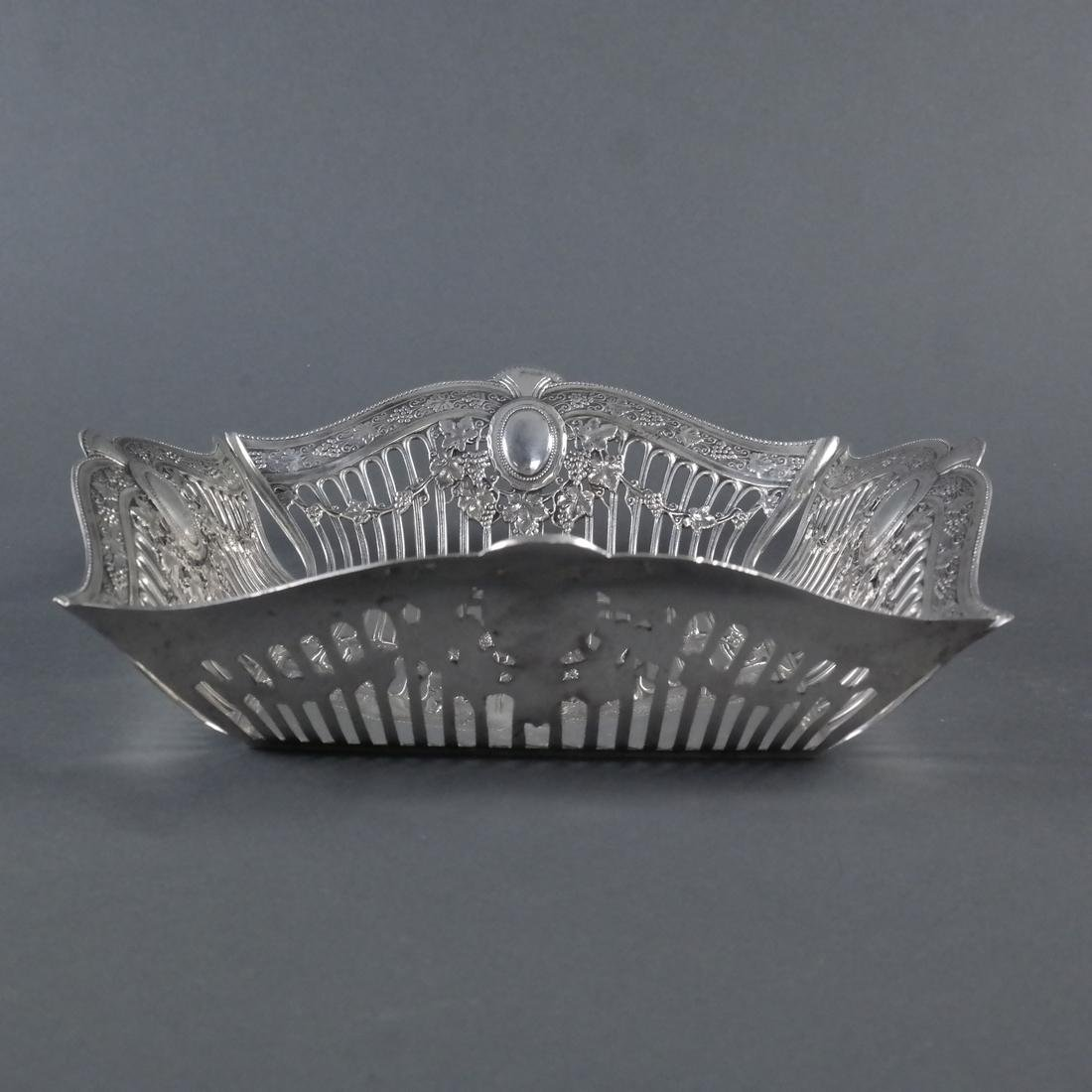 .900 Standard Silver Reticulated Basket - 3