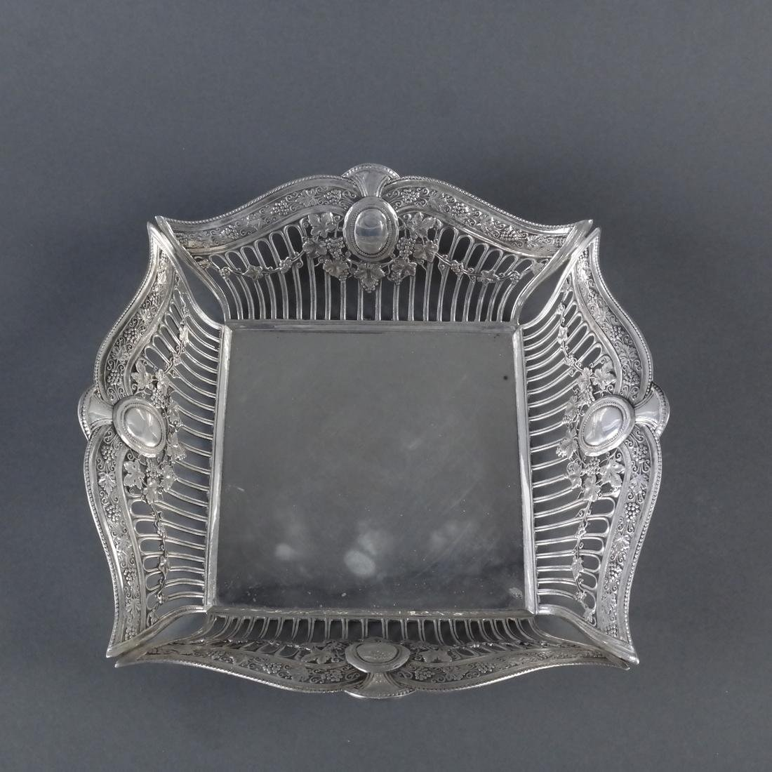 .900 Standard Silver Reticulated Basket - 4