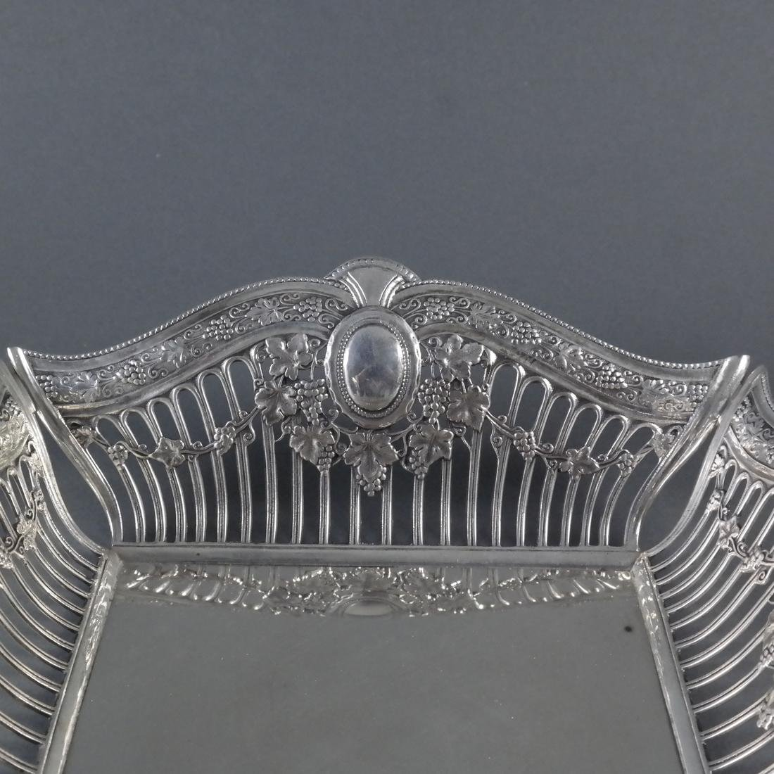 .900 Standard Silver Reticulated Basket - 5