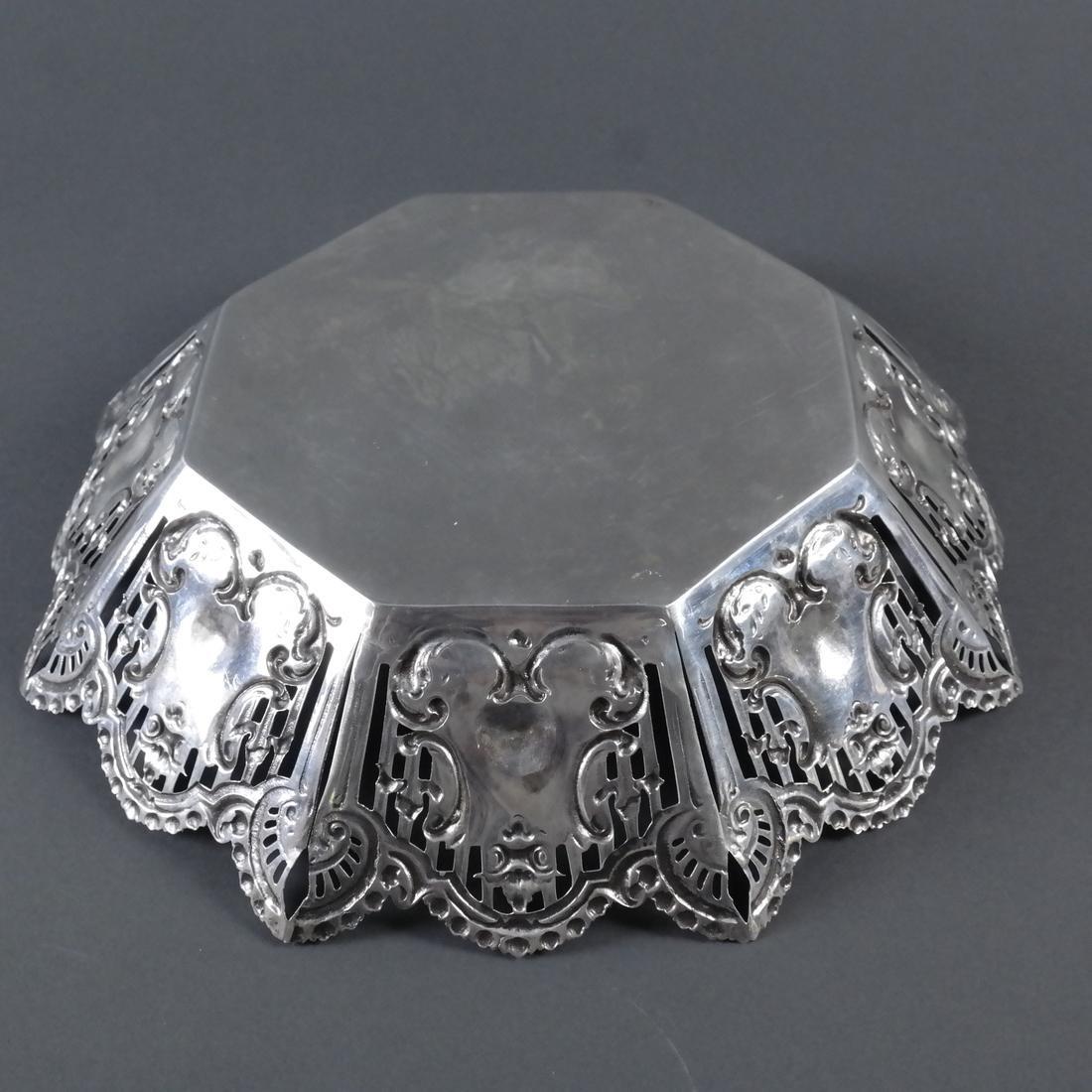 .900 Standard Silver Ornate Centerpiece - 6
