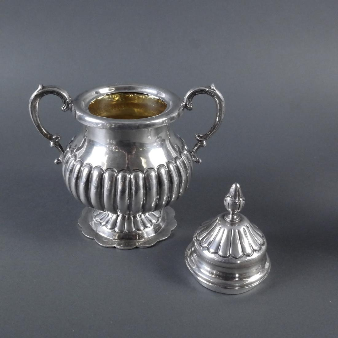 5-Piece .900 Ornate Silver Tea Service - 10