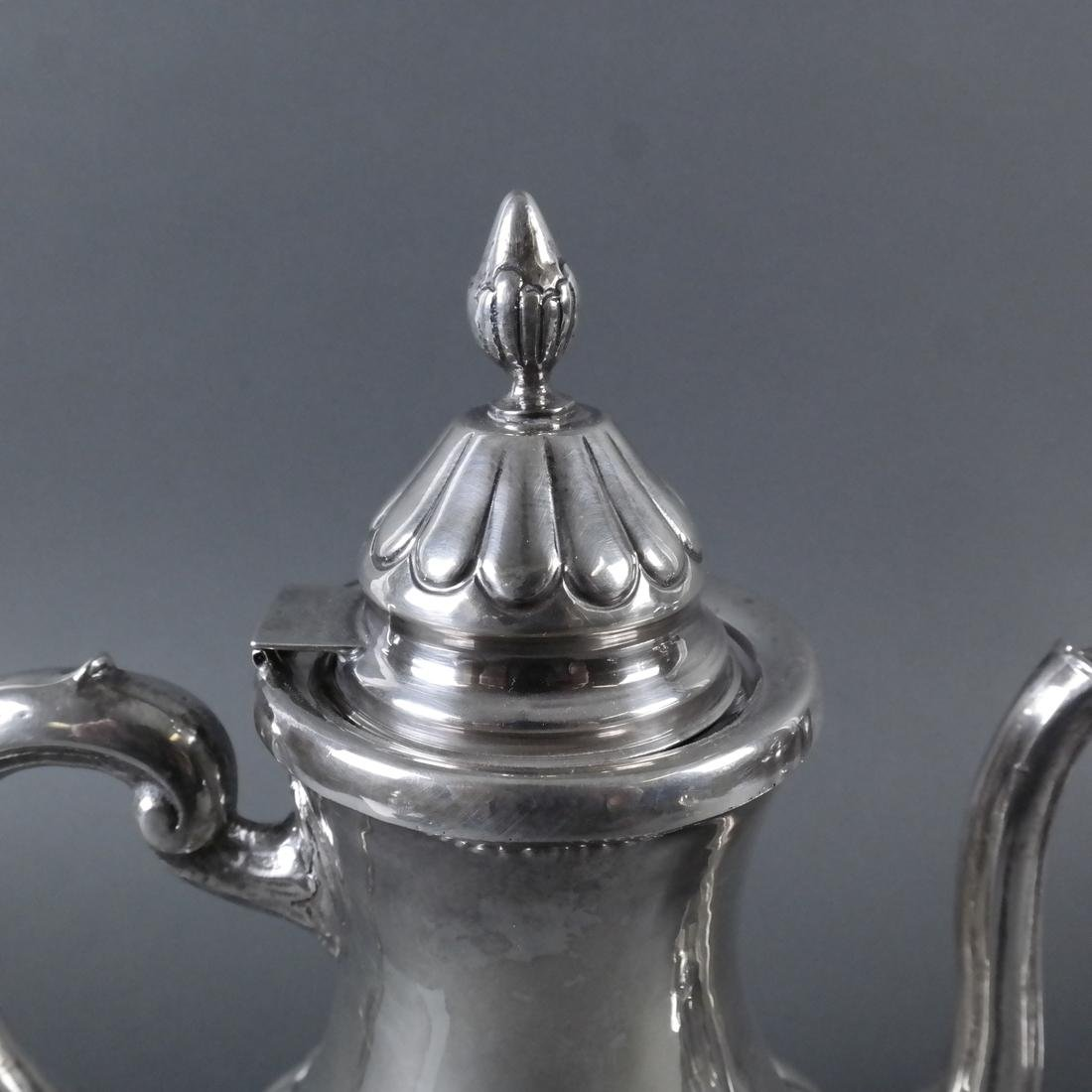 5-Piece .900 Ornate Silver Tea Service - 7