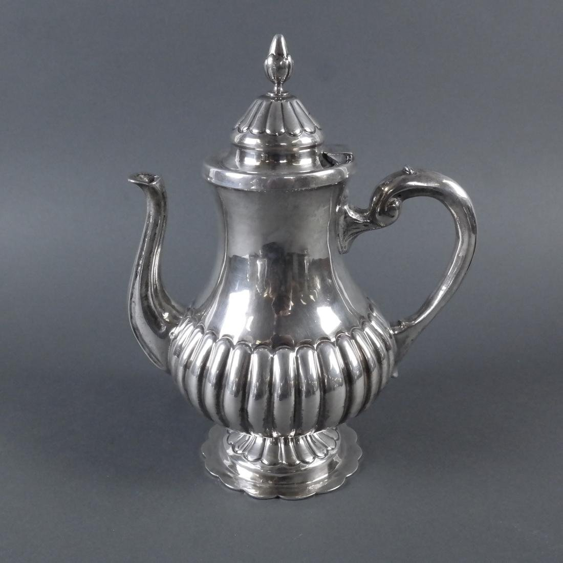5-Piece .900 Ornate Silver Tea Service - 8