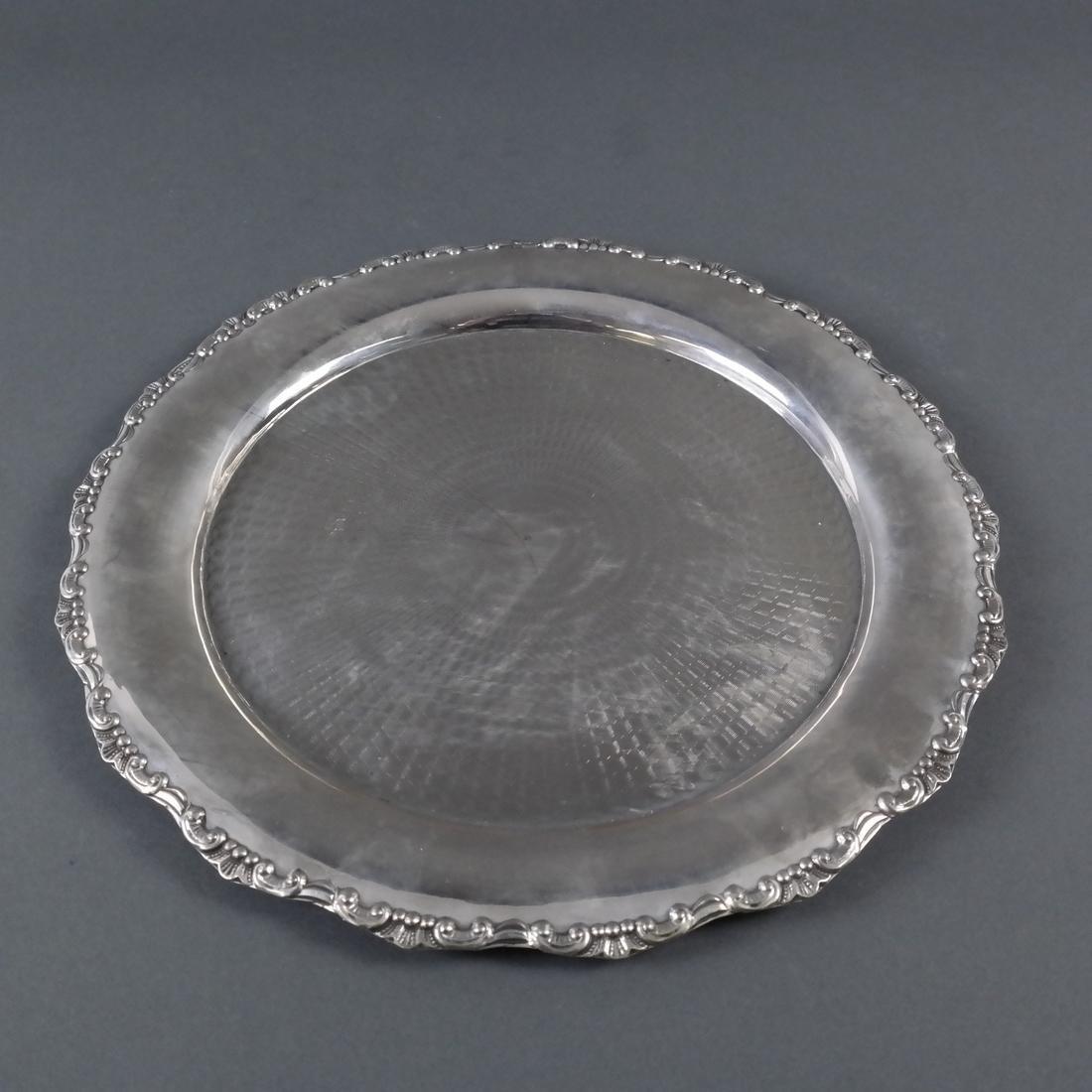 .800 Standard Silver Round Salver