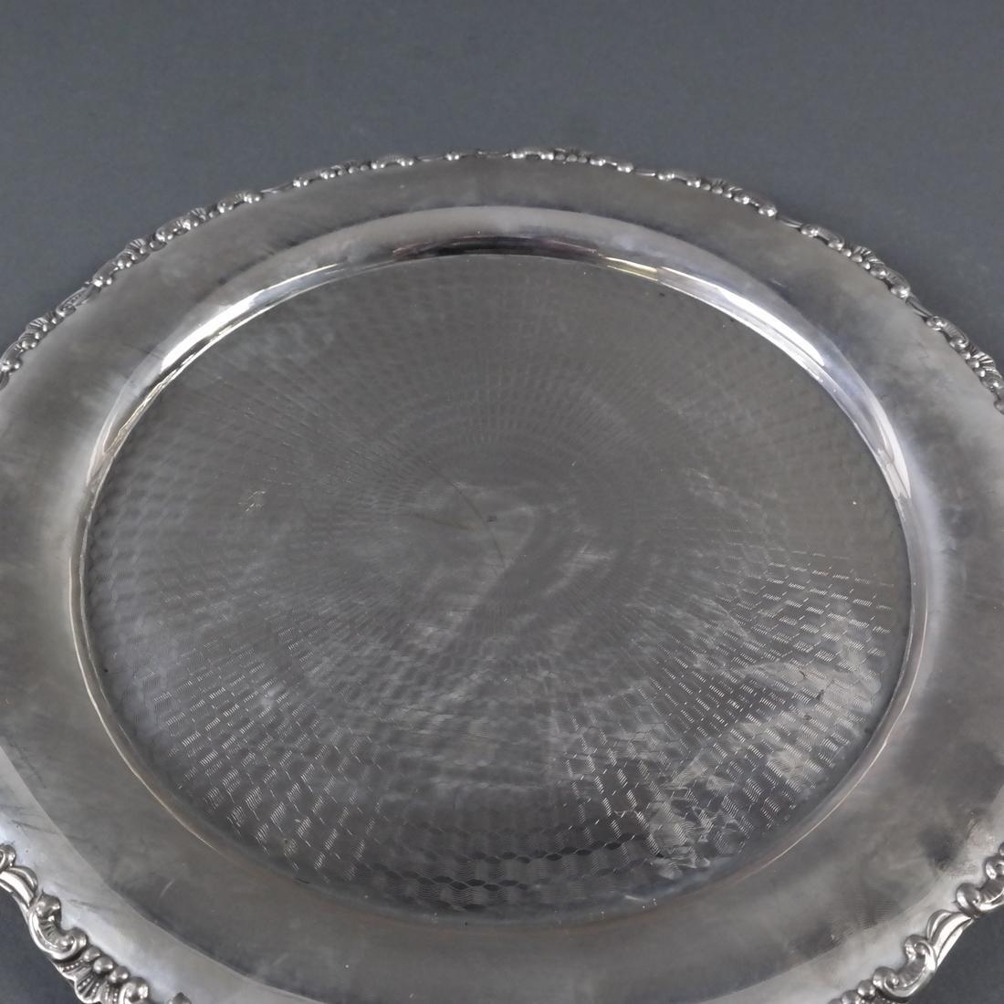 .800 Standard Silver Round Salver - 4