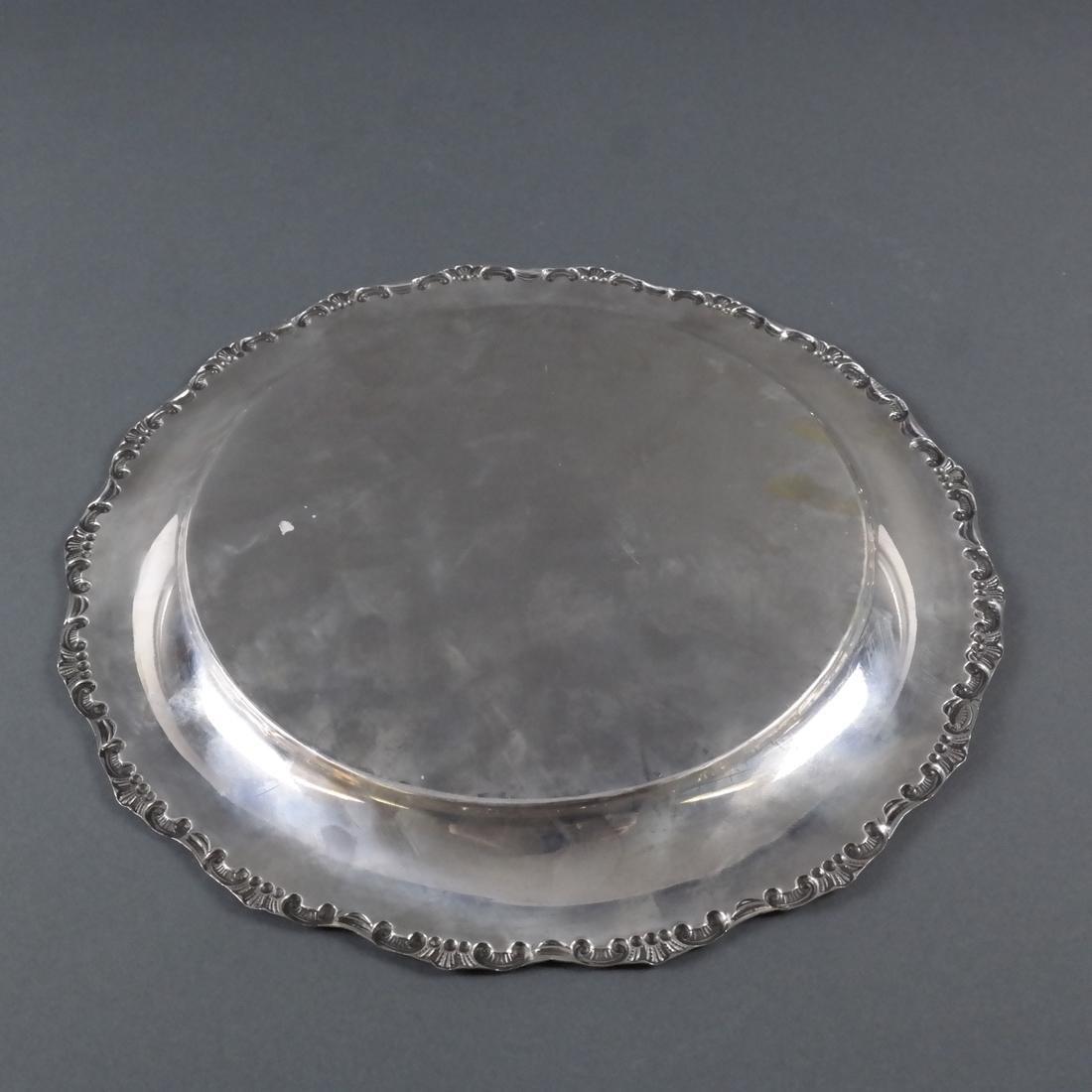 .800 Standard Silver Round Salver - 5