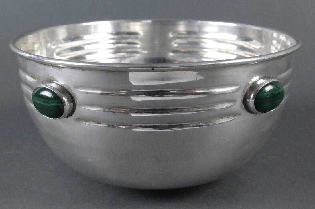"Two .900 Standard Silver ""Jeweled"" Bowls - 6"