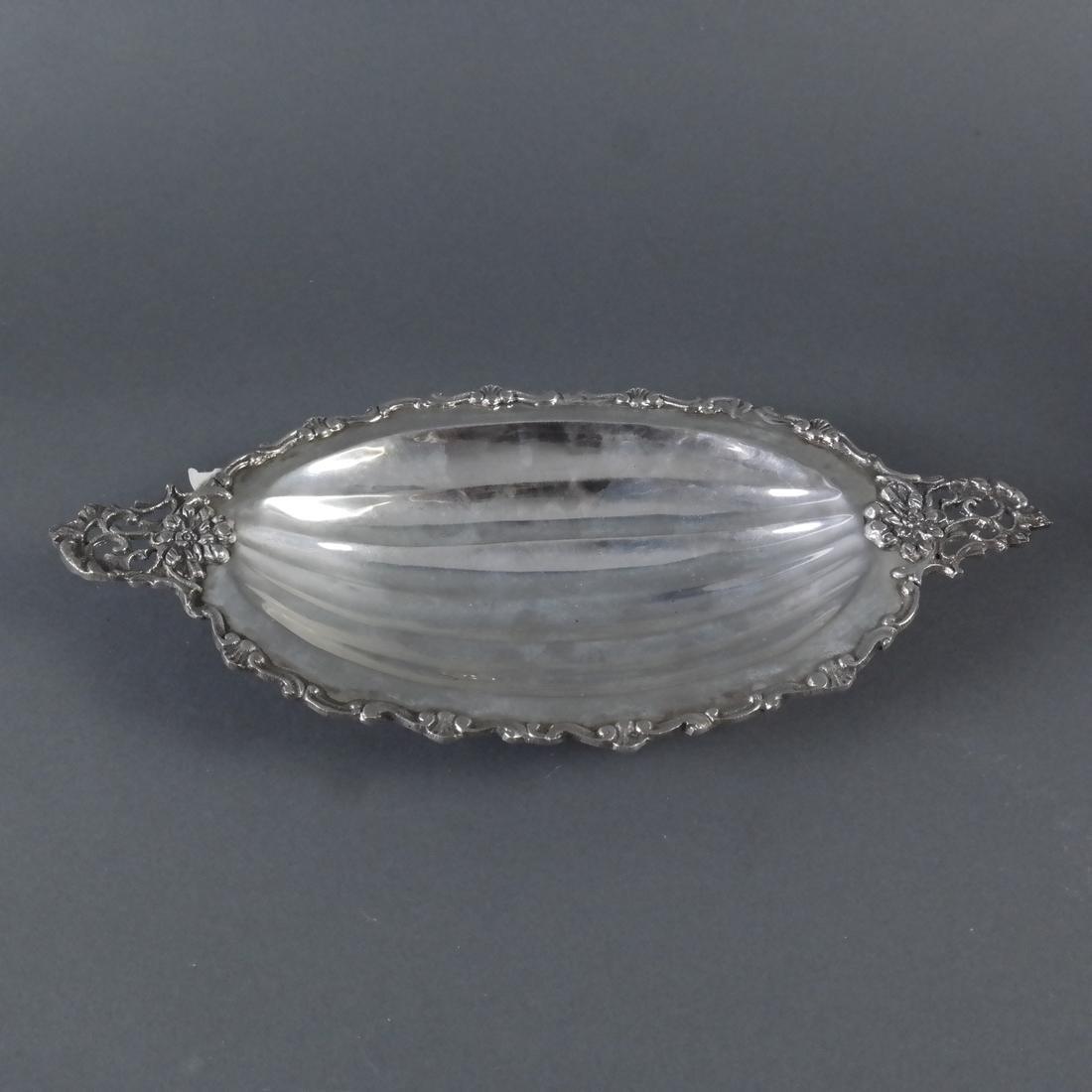 .800 Standard Silver Ornate Fruit Dish - 3