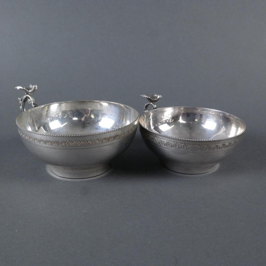 Two .900 Standard Silver Cups