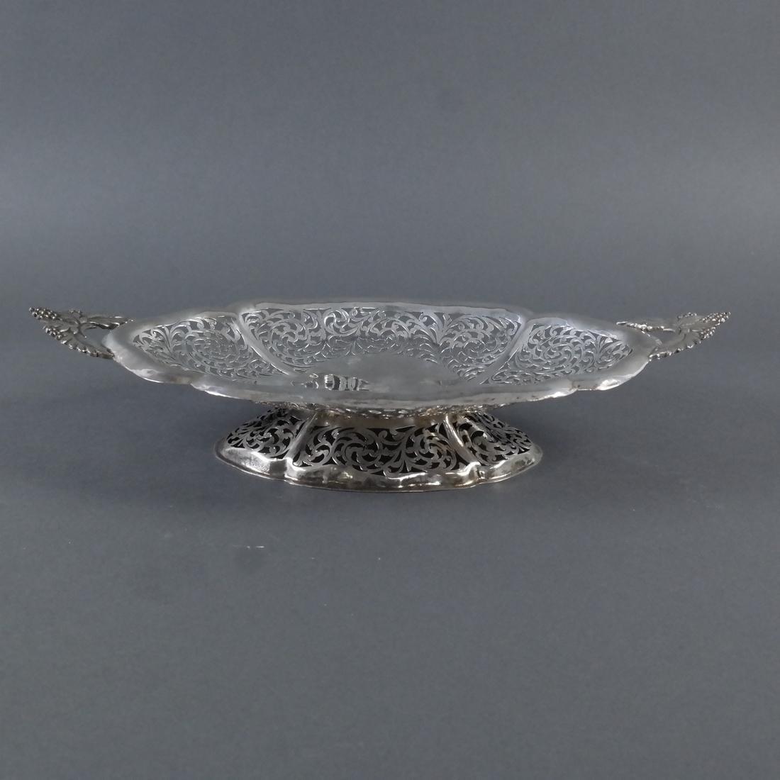 .900 Standard Silver Pierced Compote