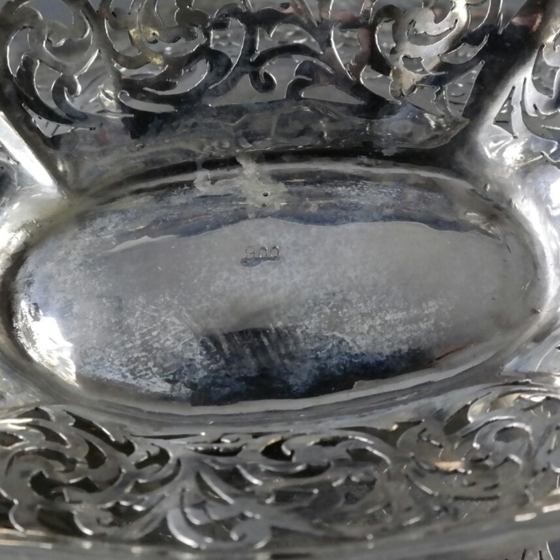 .900 Standard Silver Pierced Compote - 2