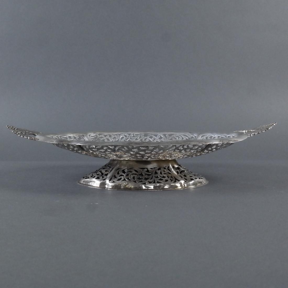 .900 Standard Silver Pierced Compote - 3