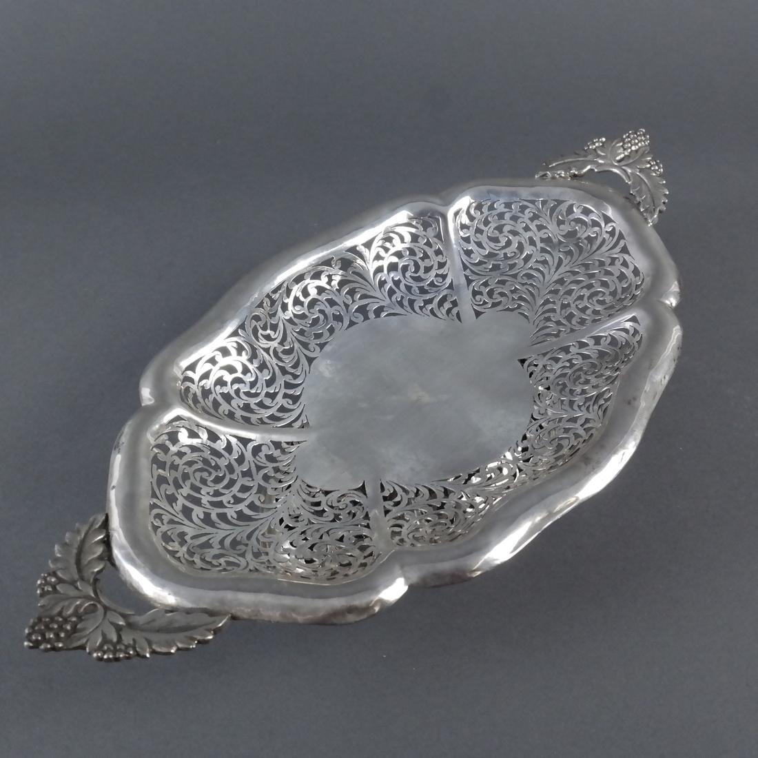 .900 Standard Silver Pierced Compote - 5
