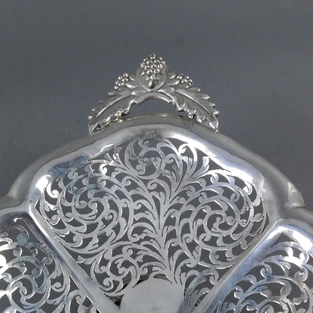 .900 Standard Silver Pierced Compote - 6