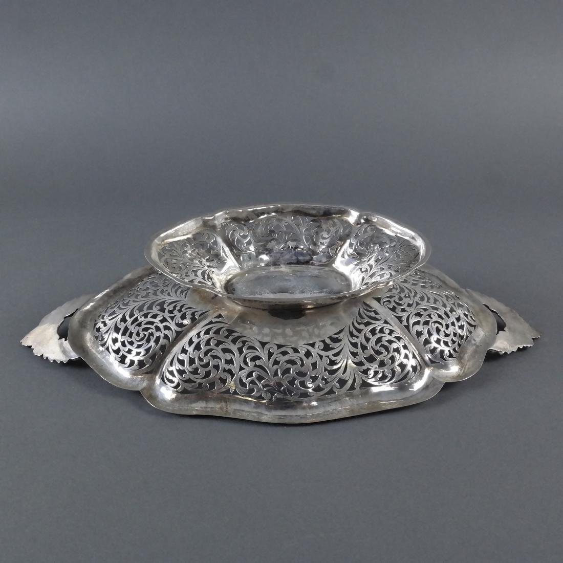 .900 Standard Silver Pierced Compote - 8