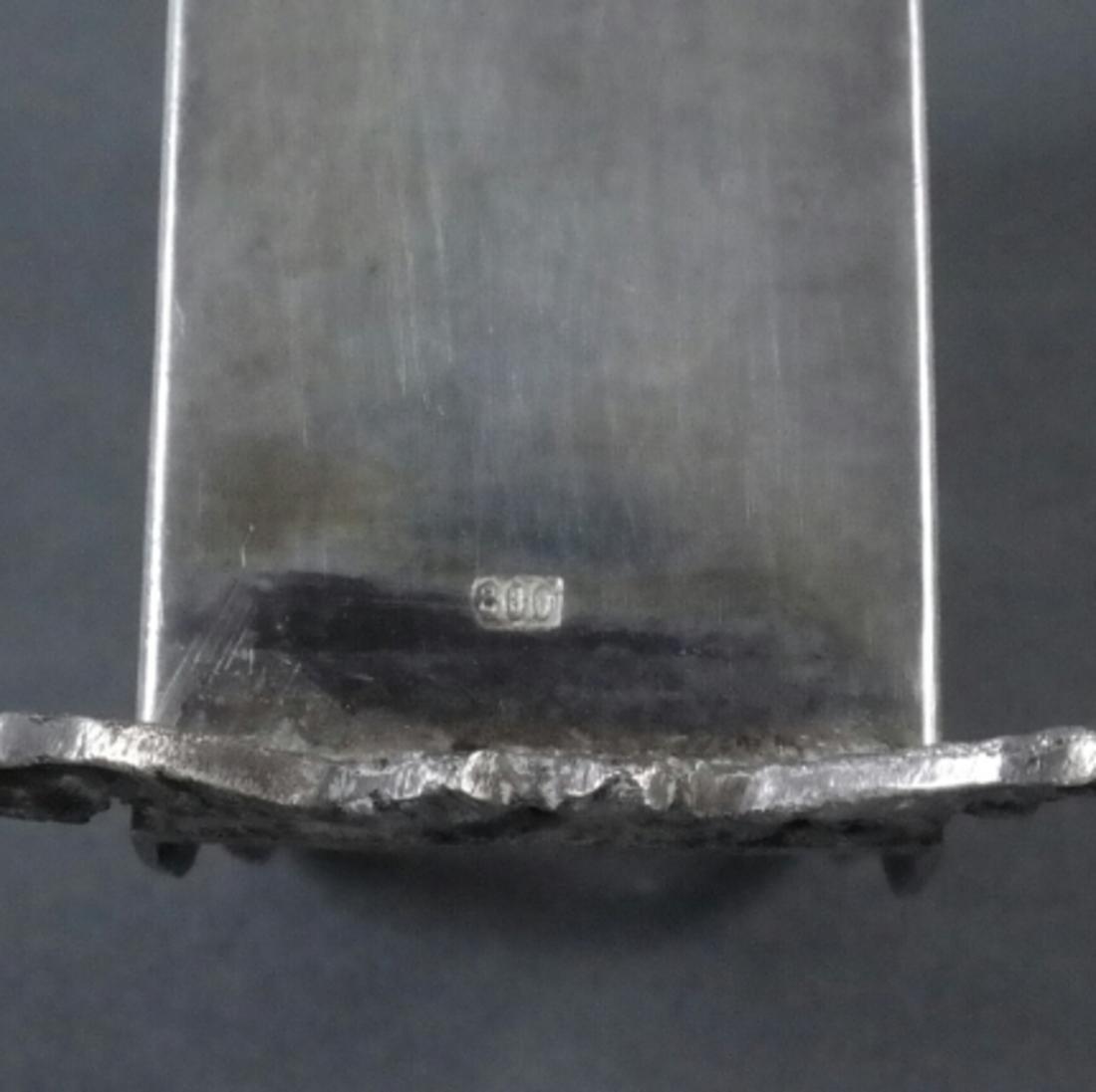 Three Silver Ornate Menu Holders - 4