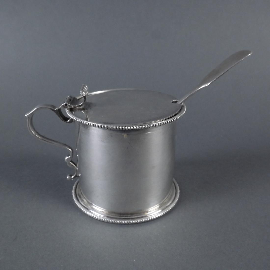 Three .900 Standard Silver Mustard Pots - 6