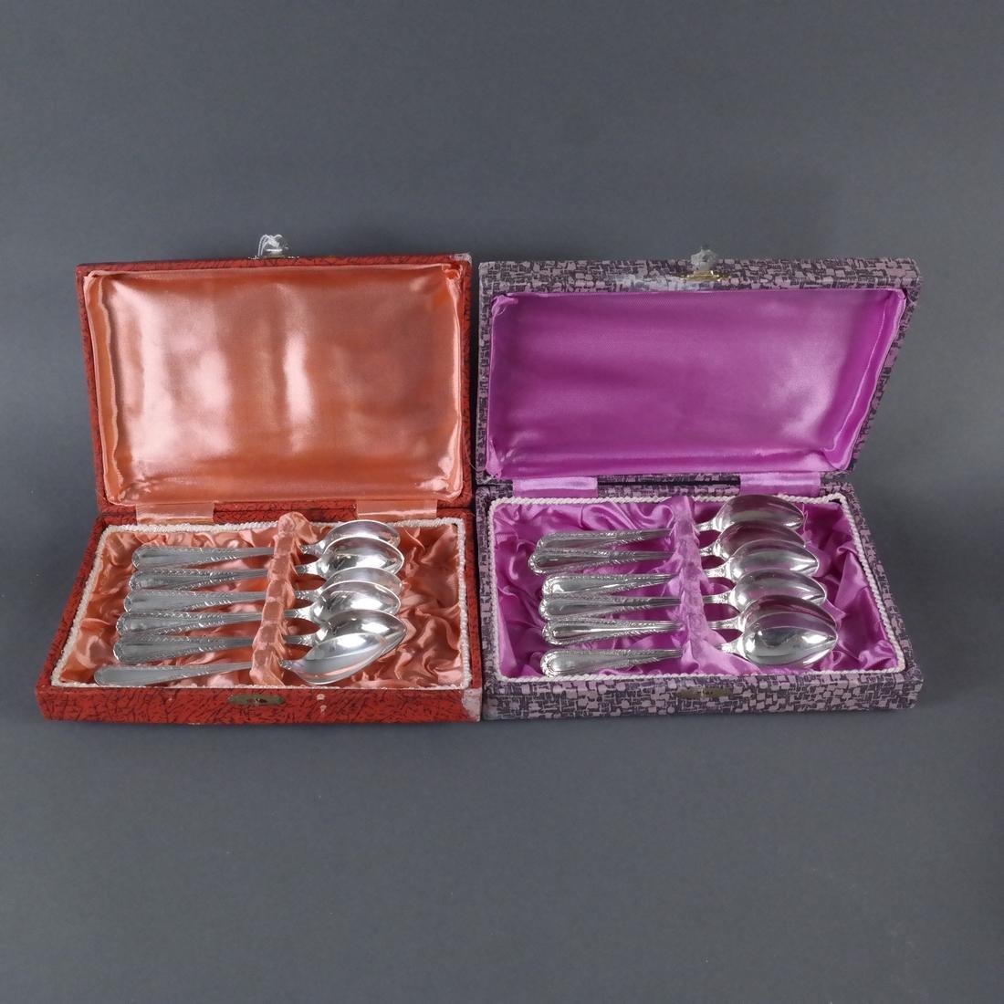 Set of Twelve .900 Silver Teaspoons