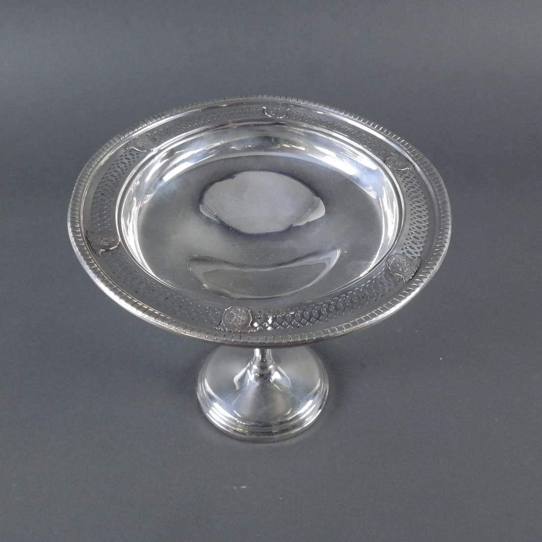 Weighted Sterling Silver Compote - 4