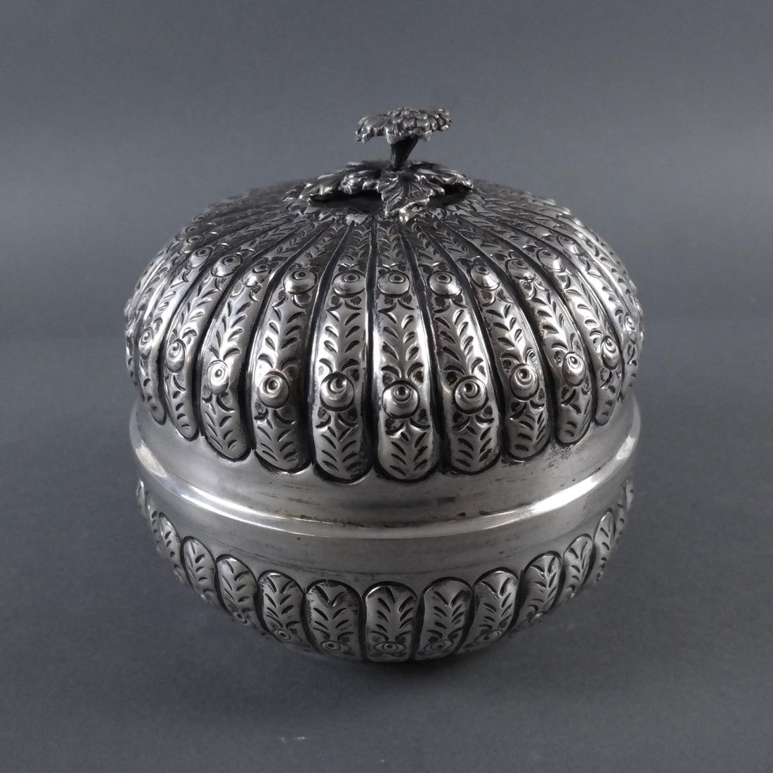 .800 Standard Silver Tea Caddy