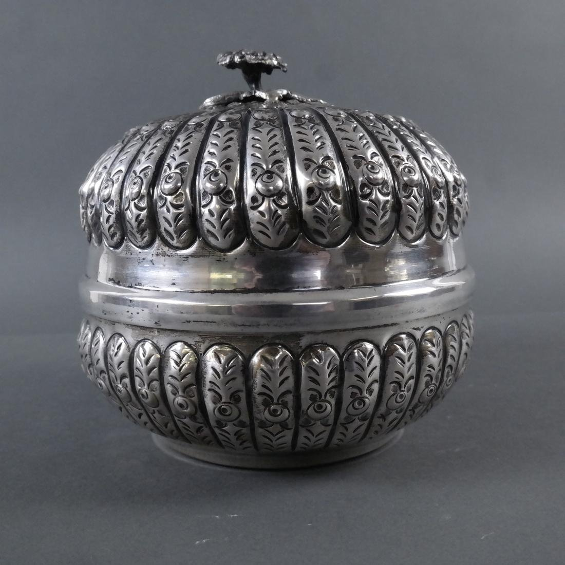 .800 Standard Silver Tea Caddy - 5
