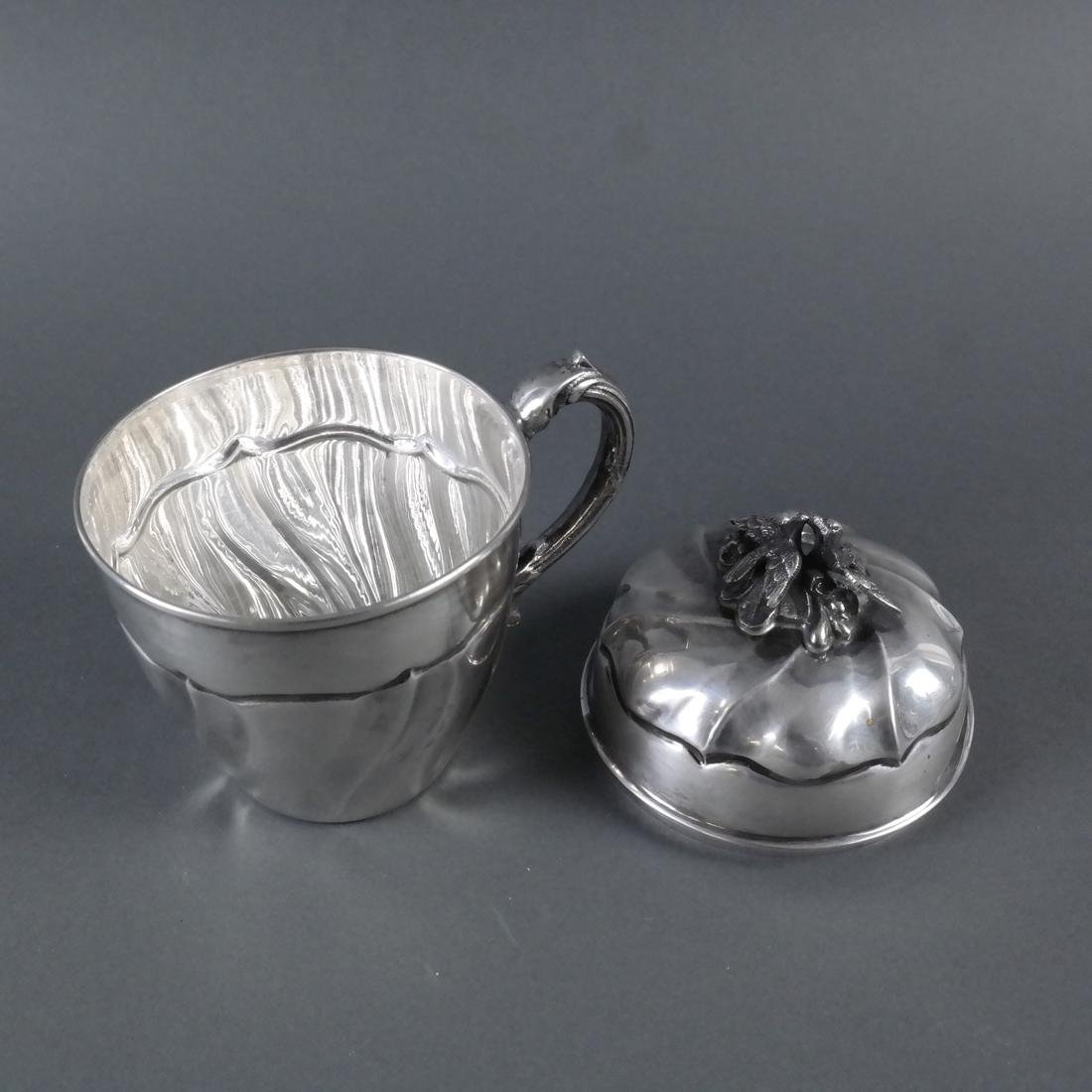 Silver Covered Cup With Swirl Motif - 5