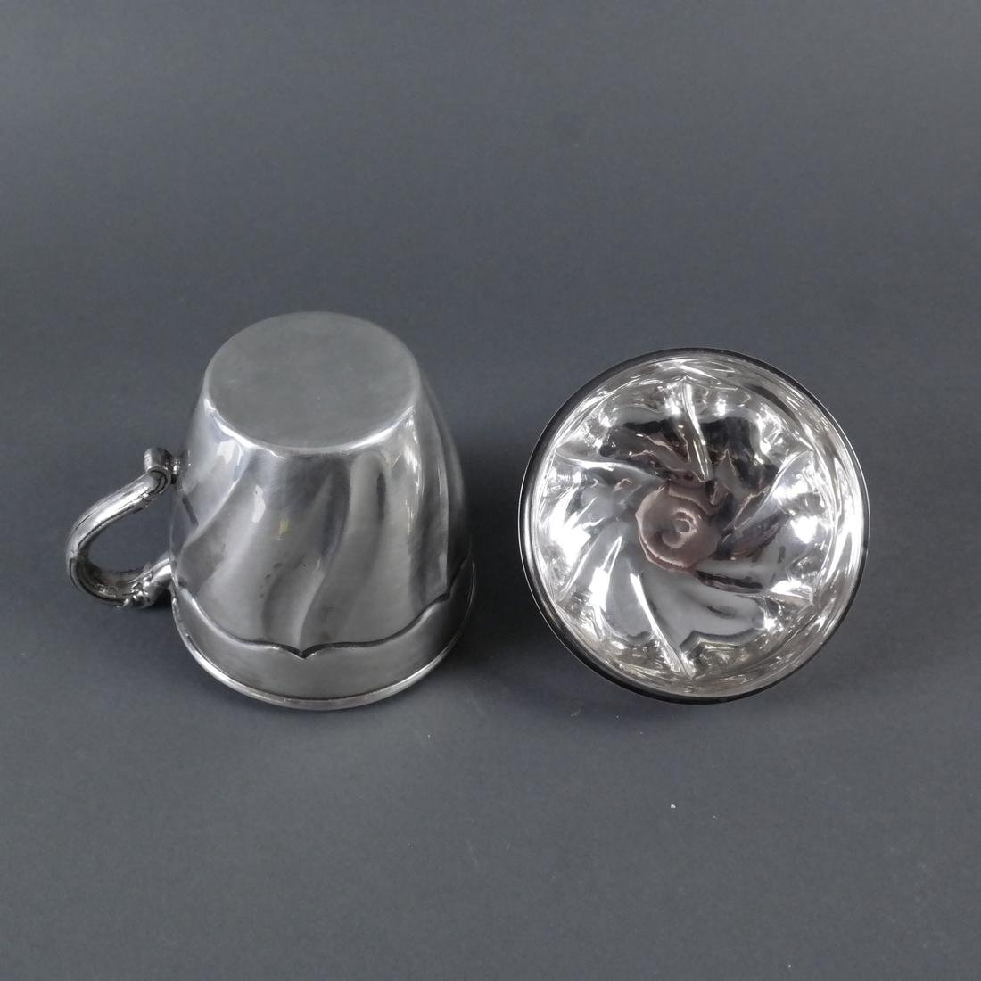 Silver Covered Cup With Swirl Motif - 7