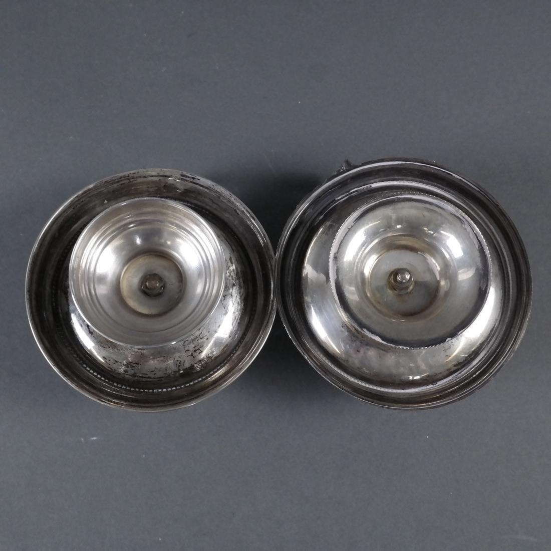 Pair .800 Standard Silver Chamber Sticks - 7