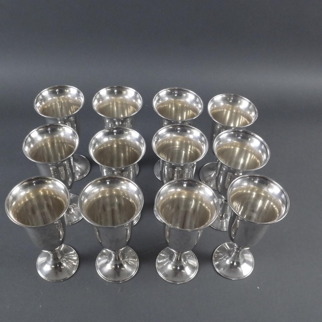 Set Twelve .900 Standard Silver Goblets - 5