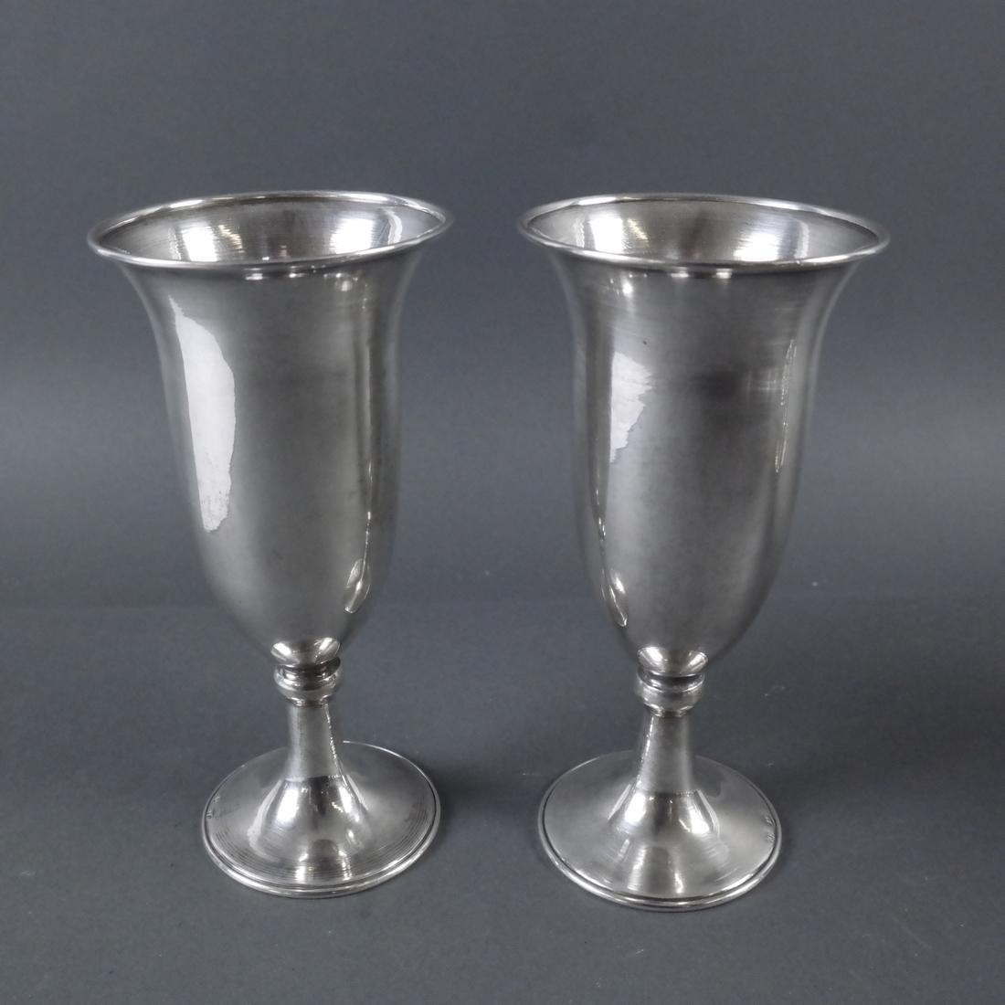 Set Twelve .900 Standard Silver Goblets - 6