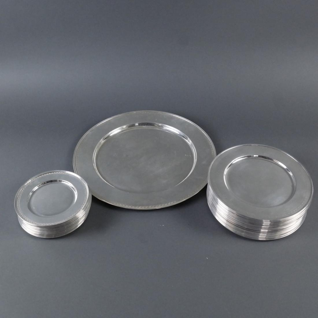Sixty-Seven .900 Silver Plates & Bowls - 4