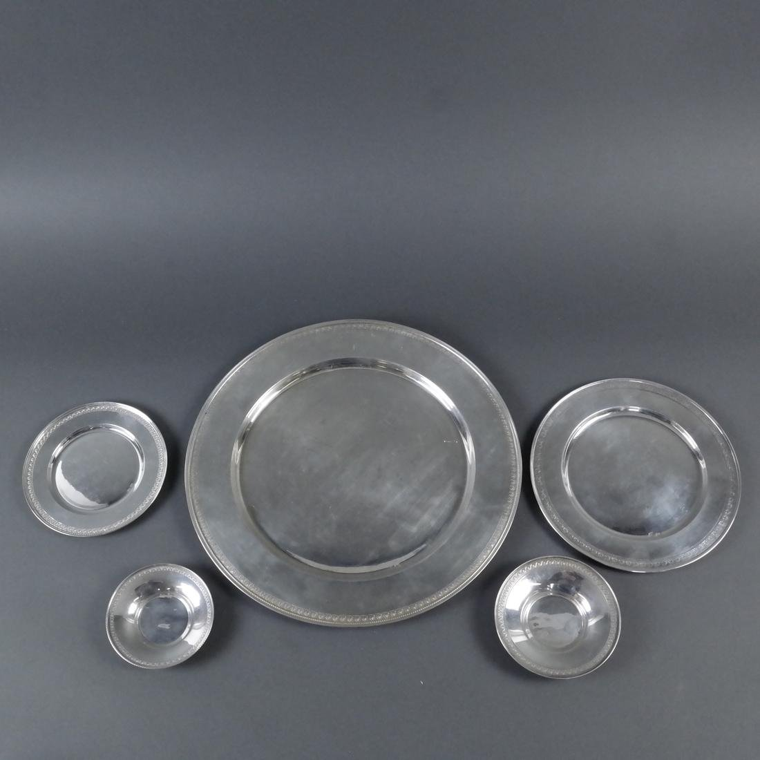 Sixty-Seven .900 Silver Plates & Bowls - 5