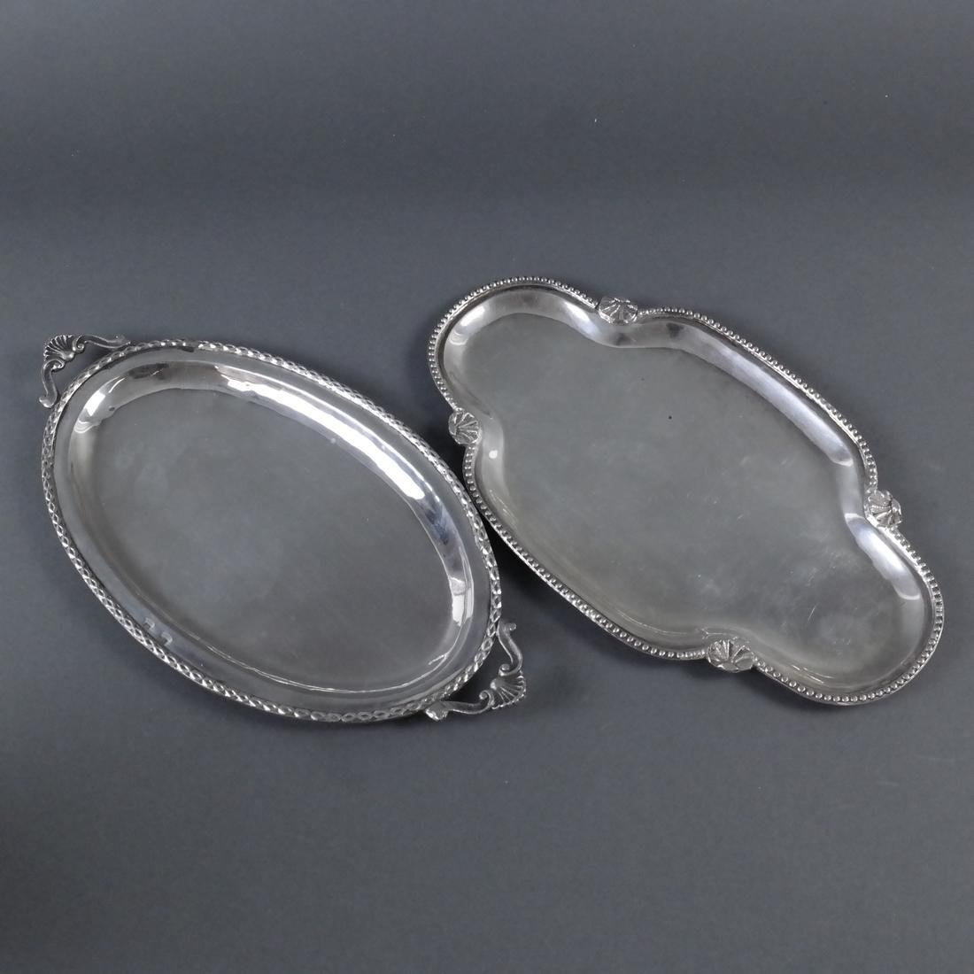 Two .800 Standard Silver Shaped Trays - 7