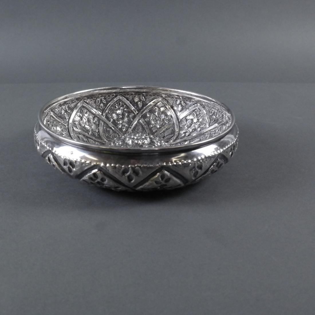 .900 Standard Silver Decorated Bowl