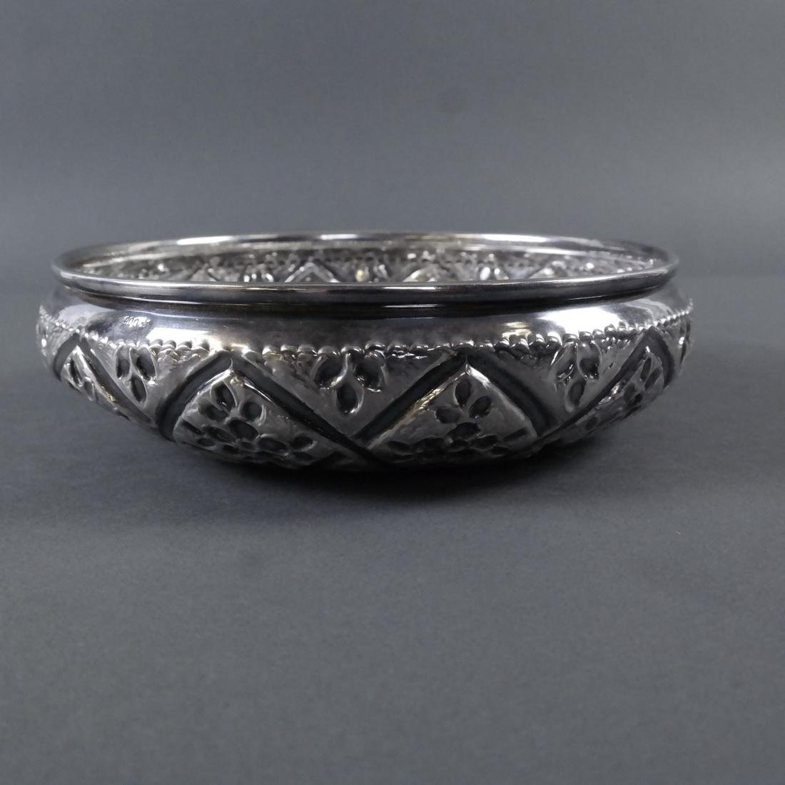 .900 Standard Silver Decorated Bowl - 6