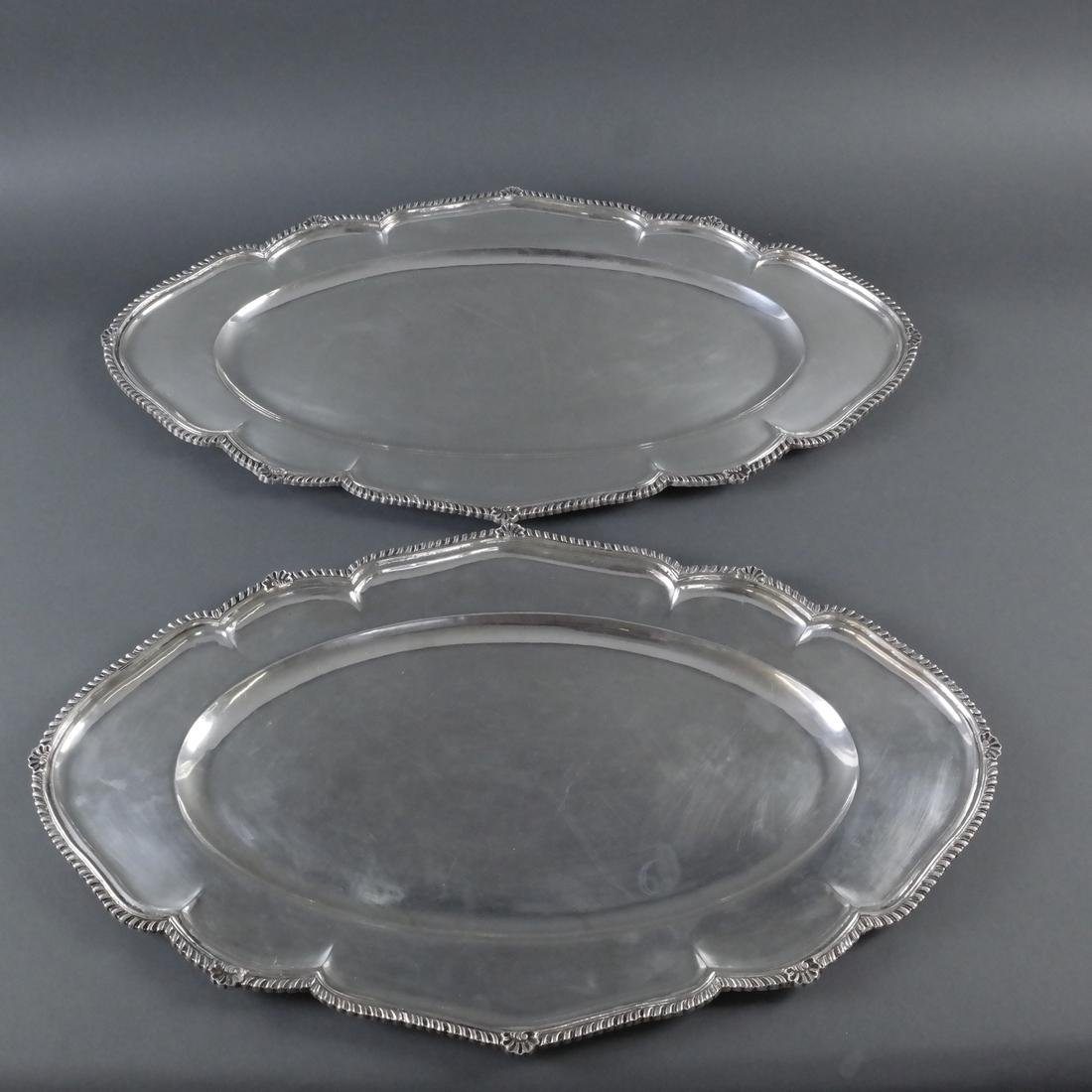 Two .900 Standard Silver Trays