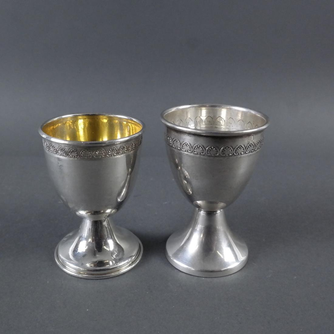 Set of 12 .900 Standard Silver Wine Cups - 6