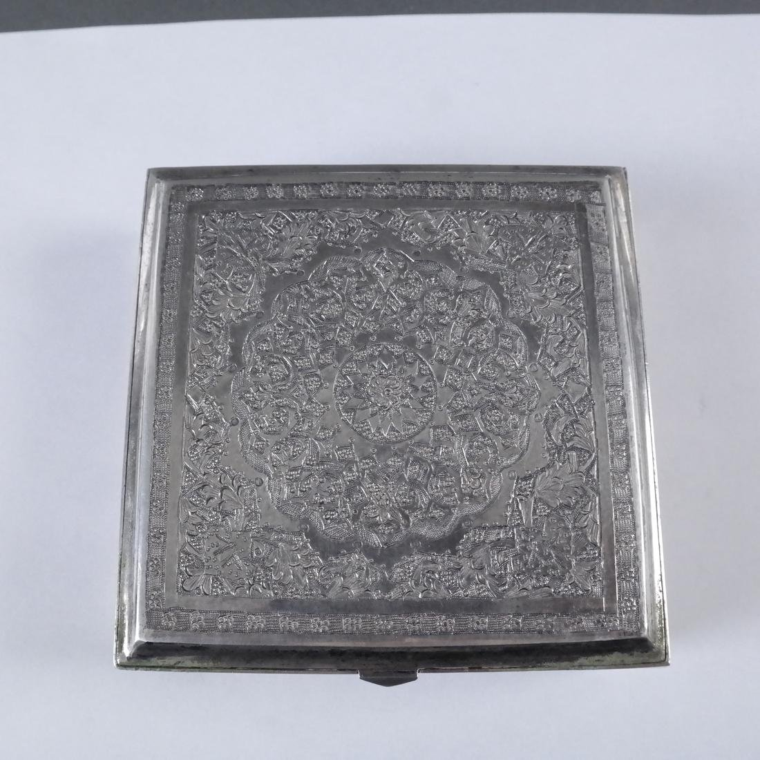 Etched Silver Hinged Box - 4
