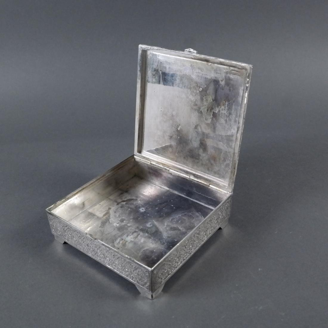 Etched Silver Hinged Box - 5