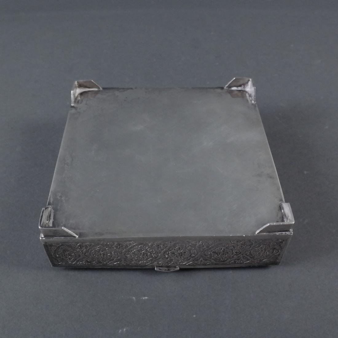Etched Silver Hinged Box - 6