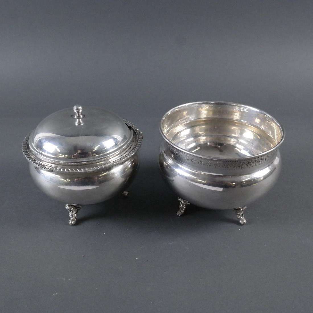 Two .900 Standard Silver Vessels