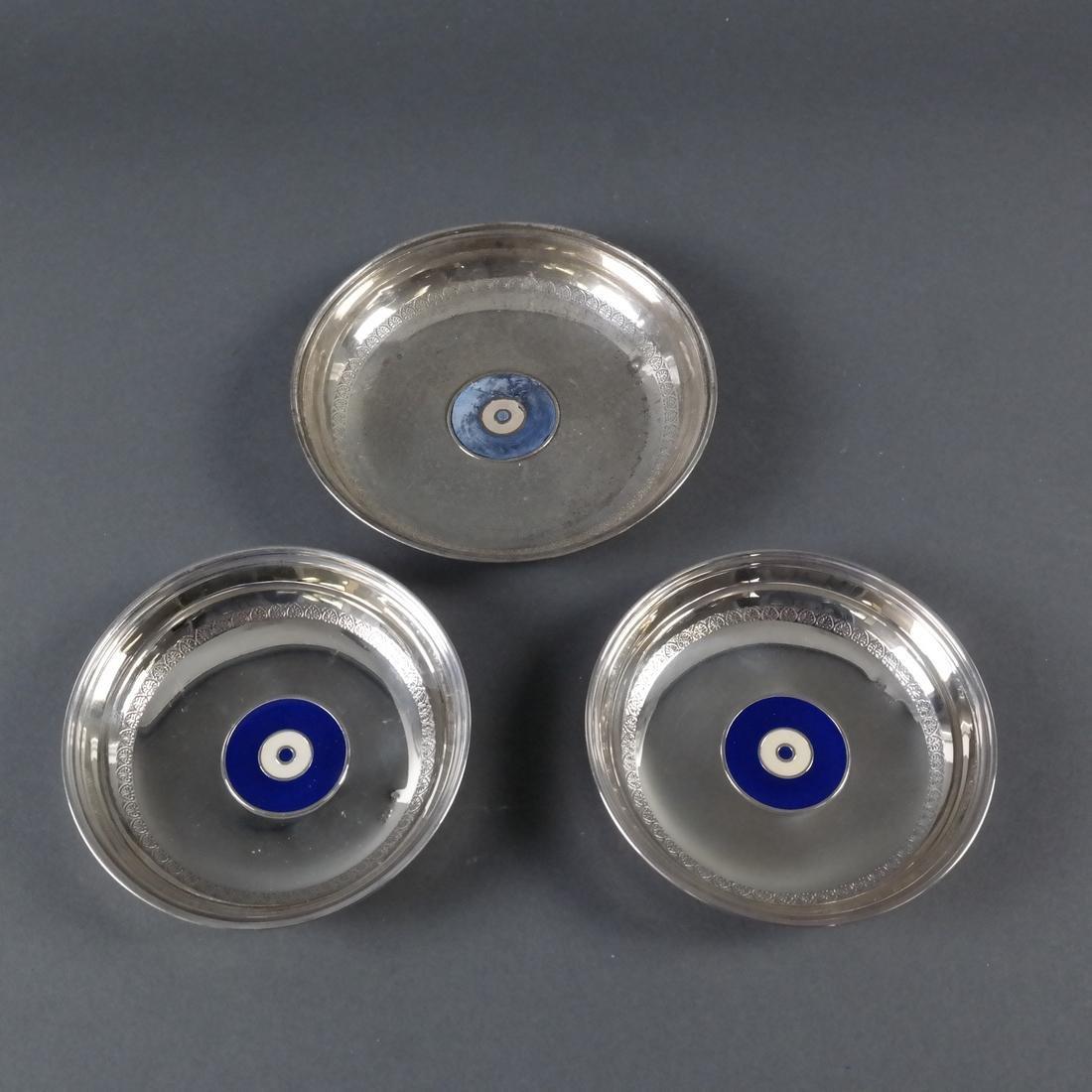 Three .900 Standard Silver Bowls