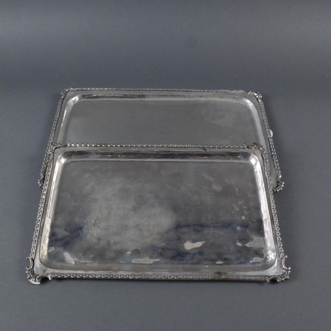 Two .800 Standard Silver Trays - 4
